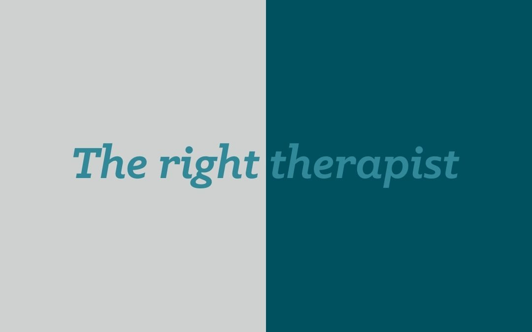 the right therapist