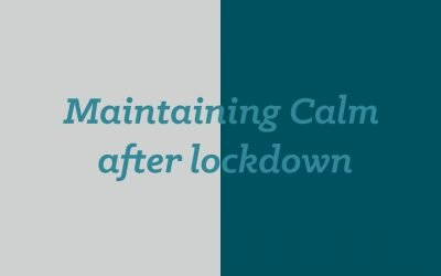 How to maintain the calm of lockdown in a normal World