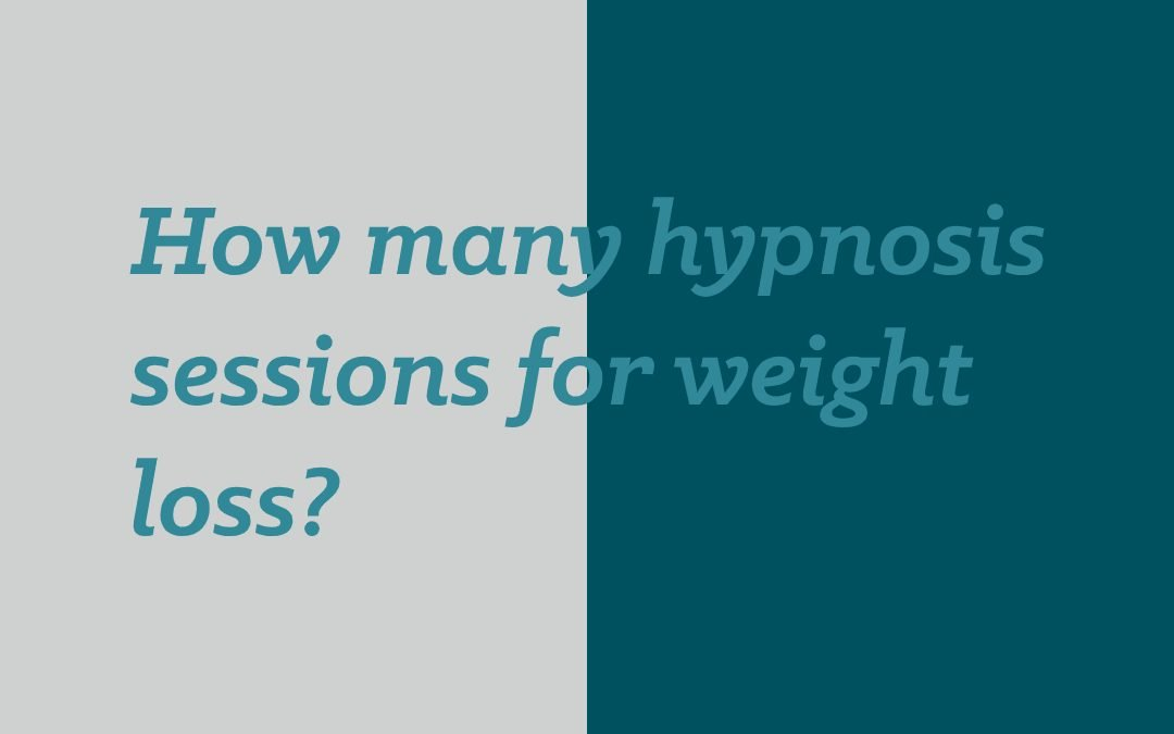How many hypnosis sessions for weight loss?
